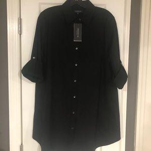 Lafayette 148  black shirt dress NEW WITH TAGS